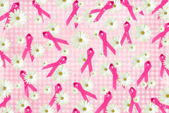 Pink Ribbons and Daisies Royalty Free Stock Photography