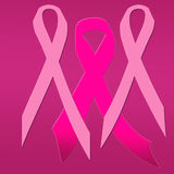 Pink Ribbons dancing. Ribbons dancing in support of women with breast cancer awareness Stock Photography