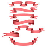 Pink ribbons Royalty Free Stock Photo