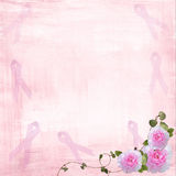 Pink Ribbons and Roses Royalty Free Stock Images