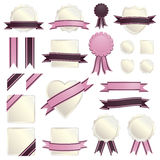 Pink ribbons and seals Stock Photography