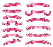 Pink ribbons Stock Images