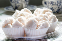Pink Rice Flour Muffin Royalty Free Stock Photos