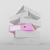 Pink Ring Binder Royalty Free Stock Photos