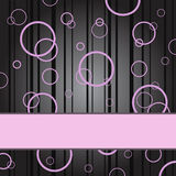 Pink Rings On A Black Background Stock Photos