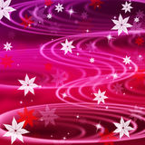 Pink Rippling Background Means Wavy Lines And Flowers Stock Photos
