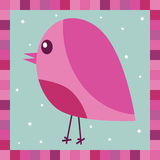 Pink robin decoration Royalty Free Stock Photos
