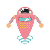 pink robot artificial intelligence flying Stock Photos