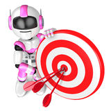 A Pink Robot the Darts Gamesr. 3D Robot Character Royalty Free Stock Photography
