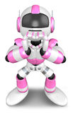 Pink Robot gesture of love Royalty Free Stock Photos
