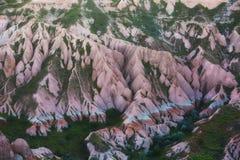 Pink rocks in Cappadocia Stock Images