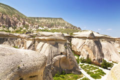 pink rocks, Goreme, Cappadocia, Central Anatolia, Turkey Royalty Free Stock Photo