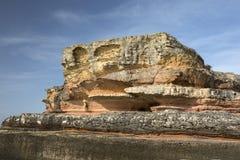 Pink rocks in Kefken, Kocaeli Stock Images