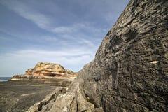Pink rocks in Kefken, Kocaeli Royalty Free Stock Photo