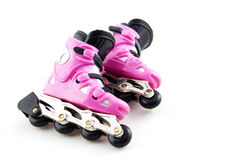 Pink rollerscates isolated Royalty Free Stock Photography