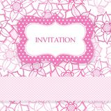 Pink romantic amazing card with flowers Royalty Free Stock Photo