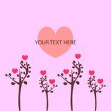 Pink romantic card Stock Photo