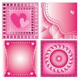 Pink romantic heart backgrounds Royalty Free Stock Photo