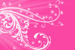 Pink romantic love hearts copy space background Royalty Free Stock Photo