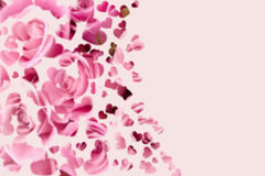 Pink romantic love hearts copy space background Royalty Free Stock Image