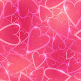 Pink romantic seamless pattern with hearts Stock Images