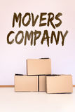 Concept movers company Stock Image