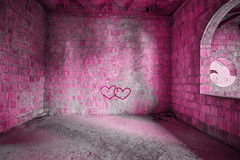 The Pink room in bulding Royalty Free Stock Photography