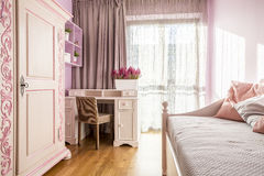 Pink room for a girl Royalty Free Stock Photo