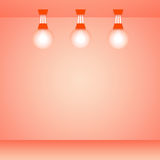 Pink room and lamps background Stock Photos