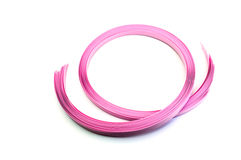 Pink rope on a white background Stock Image
