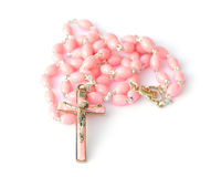 Pink Rosary Stock Image