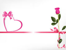 Pink Rose And Heart Royalty Free Stock Images