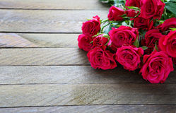 Pink rose on the boards Royalty Free Stock Photography