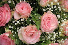 Pink rose bridal bouquet Stock Photography
