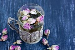 Pink rose buds Stock Photos