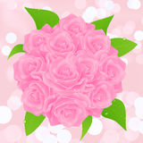 Pink rose bunch Royalty Free Stock Photo