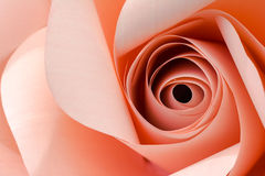 Pink Rose. Close up pink rose made from paper Royalty Free Stock Photo