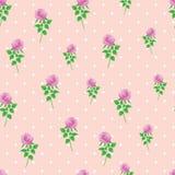Pink rose digital paper polka dot background seamless pattern. Illustrator`s swatch pattern stock illustration