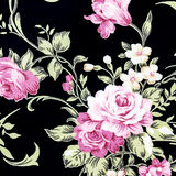 Pink Rose Fabric background, Fragment of colorful retro tapestry text Royalty Free Stock Photography