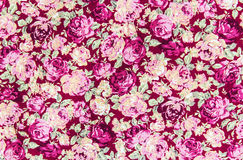 Pink rose fabric background, Fragment of colorful retro tapestry Stock Image
