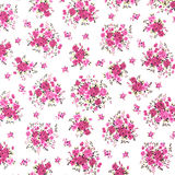 Pink Rose Fabric background, Fragment of colorful retro tapestry Royalty Free Stock Image
