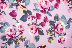 Pink rose fabric pattern background Royalty Free Stock Image
