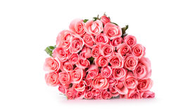 Pink rose flower bouquet isolated Royalty Free Stock Photo