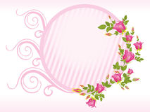 Pink rose with flower frame Royalty Free Stock Photo