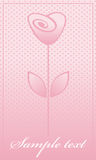 Pink rose. greeting card Royalty Free Stock Photo