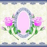 Pink rose ornamental decoration Stock Image