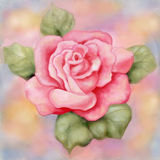 Pink Rose Painting Raster Image Stock Photography