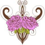 Pink Rose Pattern Royalty Free Stock Photo