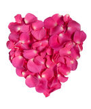 Pink rose petal heart Stock Photography
