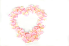 Pink rose petal heart Royalty Free Stock Photo